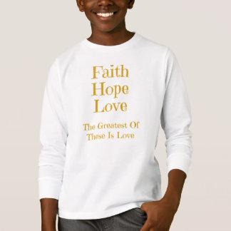 Camiseta larga de la manga de Hanes de los niños