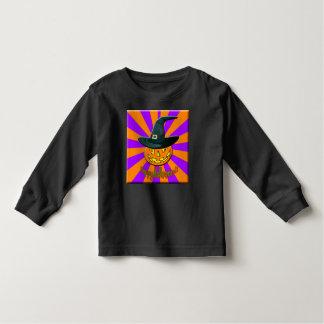 Camiseta larga de la manga de la calabaza de polera