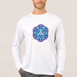 Camiseta larga de la manga de la semilla de la