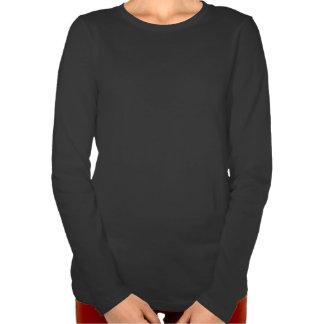Camiseta larga de la manga de las mujeres del lobo