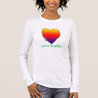Camiseta larga de la manga de las mujeres - el