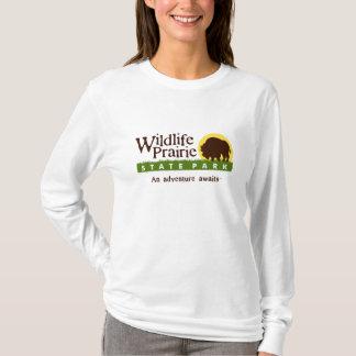 Camiseta larga de la manga de las señoras de WPSP