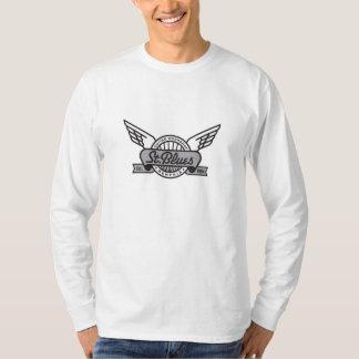 Camiseta larga de la manga de los azules del St