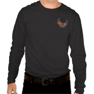 Camiseta larga de la manga de los hombres