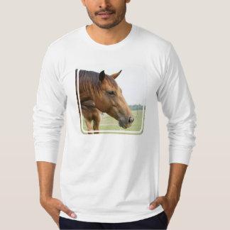 Camiseta larga de la manga de los hombres remera