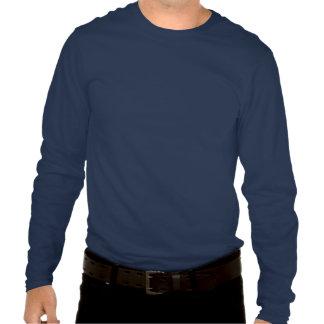 Camiseta larga de la manga de los segundos azules