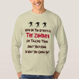 Camiseta larga de la manga de los zombis de la