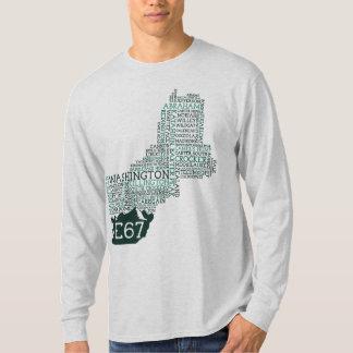 Camiseta larga de la manga de Nueva Inglaterra 67 Polera