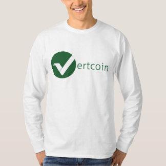 Camiseta larga de la manga de Vertcoin (VTC) Playeras