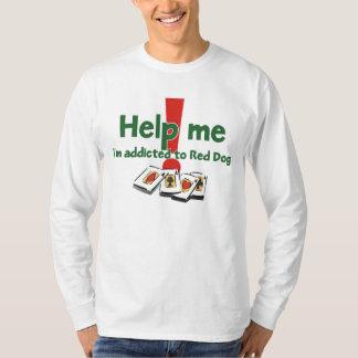 Camiseta larga de la manga del adicto rojo al
