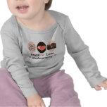 Camiseta larga de la manga del bebé de la cámara d