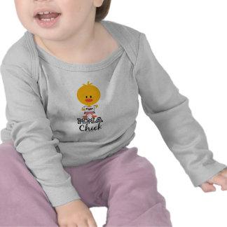 Camiseta larga de la manga del bebé del polluelo