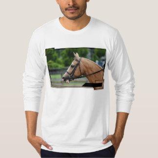 Camiseta larga de la manga del caballo del playera