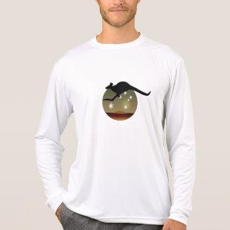 Camiseta larga de la manga del canguro australiano remeras
