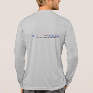 camiseta larga de la manga del Deporte-Tek de los