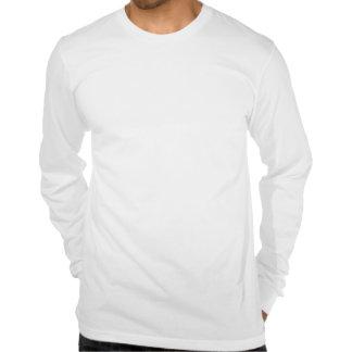 Camiseta larga de la manga del informe de la