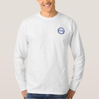 Camiseta larga de la manga del logotipo de la FOA