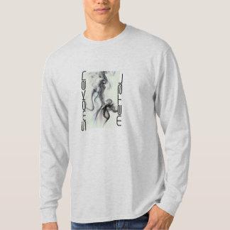 Camiseta larga de la manga del maquinista del