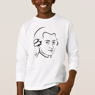 Camiseta larga de la manga del niño de Wolfgang Playera