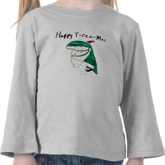 Camiseta larga de la manga del niño del navidad T-