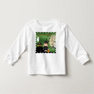 Camiseta larga de la manga del niño lindo de la polera