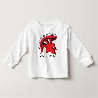 Camiseta larga de la manga del niño playera de manga larga de niño