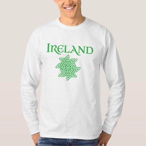 Camiseta larga de la manga del nudo céltico de