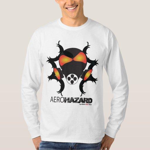 Camiseta larga de la manga del PELIGRO de AEROSOUL