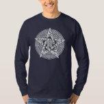 Camiseta larga de la manga del Pentagram céltico Poleras