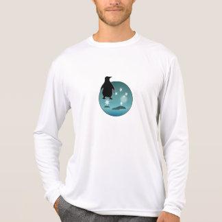 Camiseta larga de la manga del pingüino