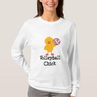 Camiseta larga de la manga del polluelo del