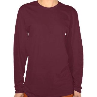 Camiseta larga de la manga del polluelo del café
