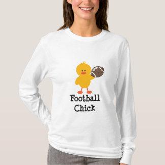 Camiseta larga de la manga del polluelo del fútbol