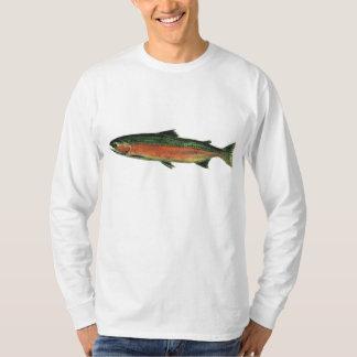 Camiseta larga de la trucha de trucha arco iris de playeras