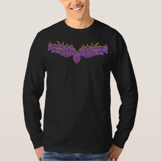 Camiseta larga del cuervo remeras
