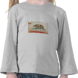 Camiseta larga del niño de la manga con la bandera