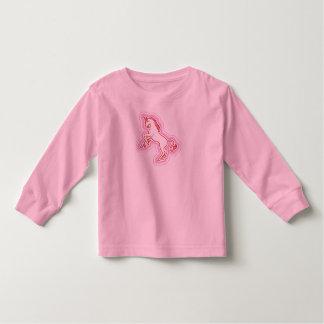 Camiseta larga del niño de la manga del unicornio
