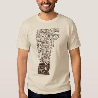 Camiseta larga del rastro de Vermont (logotipo de Remeras