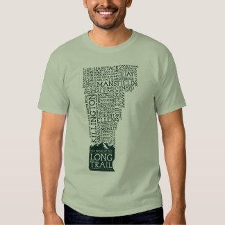 Camiseta larga del rastro de Vermont (logotipo Remeras