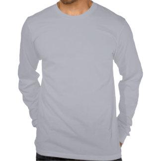Camiseta larga gris de ClickFox de la manga