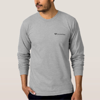 Camiseta larga gris de ClickFox de la manga Polera