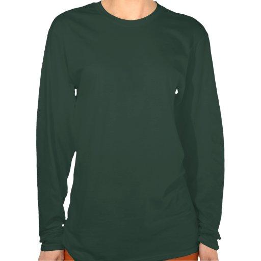 Camiseta larga helada de la manga del polluelo del playera