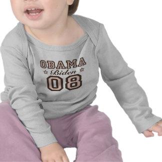 Camiseta larga infantil de la manga de Obama Biden