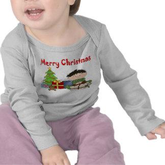 Camiseta larga infantil de la manga del niño peque