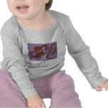 Camiseta larga infantil de la manga del pulpo