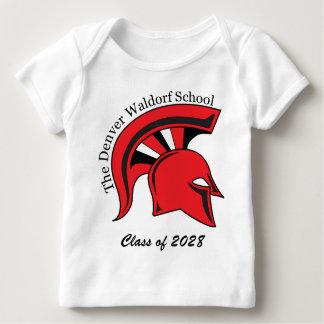 Camiseta larga infantil del Revestimiento-Hombro