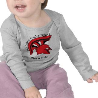 Camiseta larga infantil del Revestimiento-Hombro d