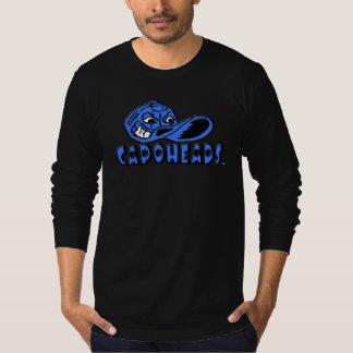 Camiseta larga negra de CapoHeads de la manga de