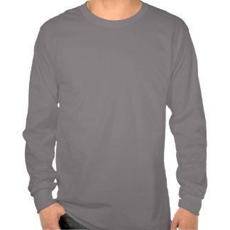 Camiseta larga para hombre del gris de la manga de