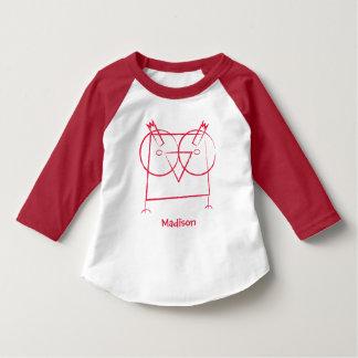 Camiseta larga personalizada de la manga del búho playeras